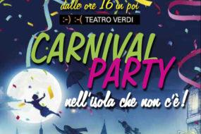 Carnival Party al Teatro Verdi: 27 Febbraio 2017 dalle ore 16